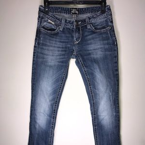 ReRock Express Skinny Distressed Jeans